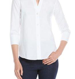 Foxcroft Foxcroft Paityn Non-Iron Pinpoint 3/4 Sleeve Shirt