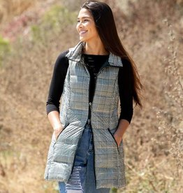 Anorak Down Filled Vest Houndstooth