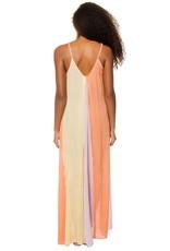 Braided Strap Maxi Dress in Lilac, Yellow & Orange