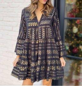 Elan Aztec Print Tunic Dress