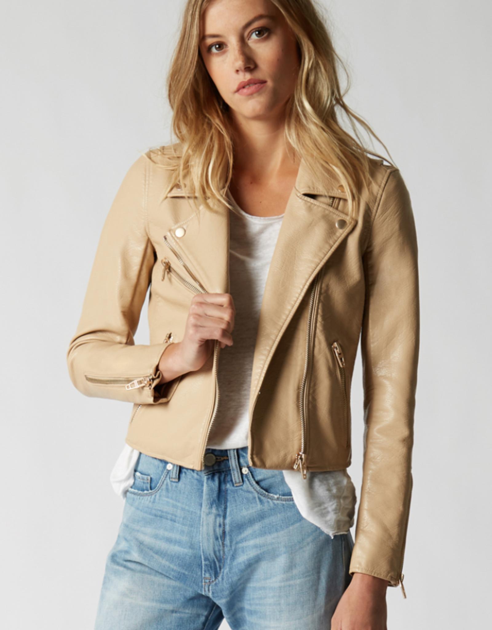 BlankNYC BlankNYC Natural Light Vegan Leather Moto Jacket