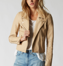BlankNYC BlankNYC Vegan Leather Natural Light Moto Jacket