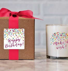 Ella B candles Happy Birthday Hand Poured Soy Candle