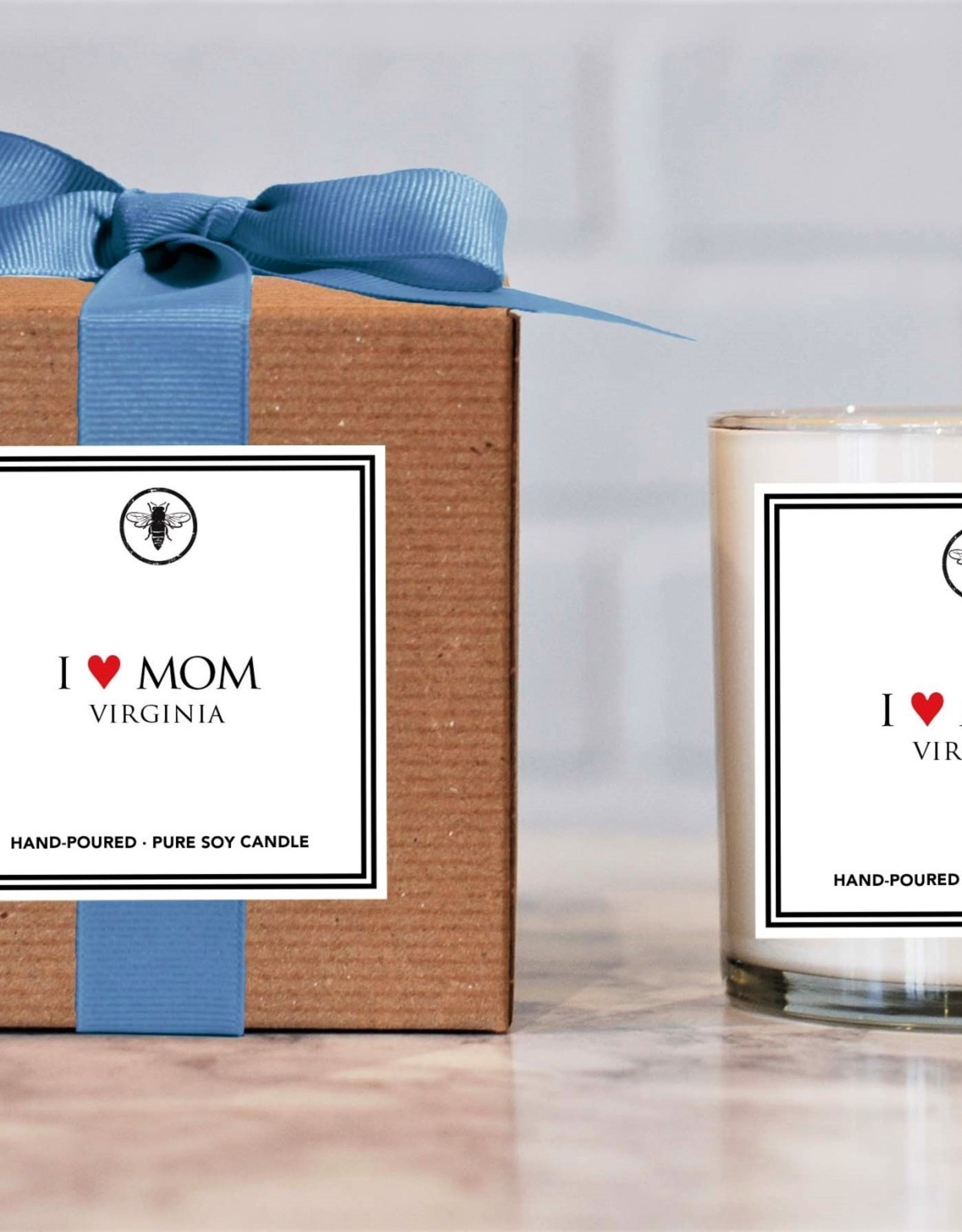 Ella B candles I Love Mom Hand Poured Soy Candle by Ella B Candles