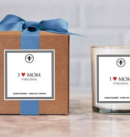 Ella B candles I Love Mom Hand Poured Soy Candle