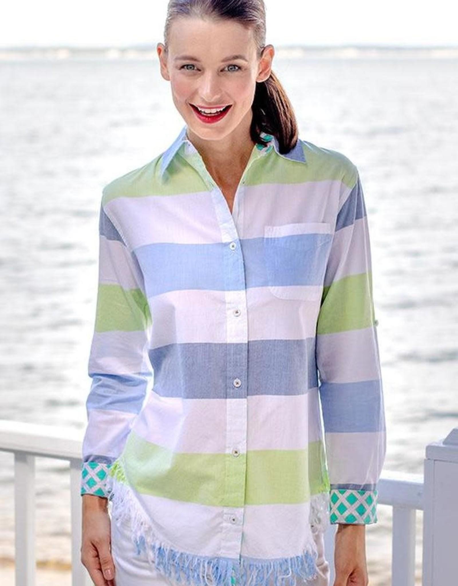 Tizzie by Dizzy Lizzie Tizzie Sun Valley Tunic Stripes Blues & Greens by Dizzy Lizzie
