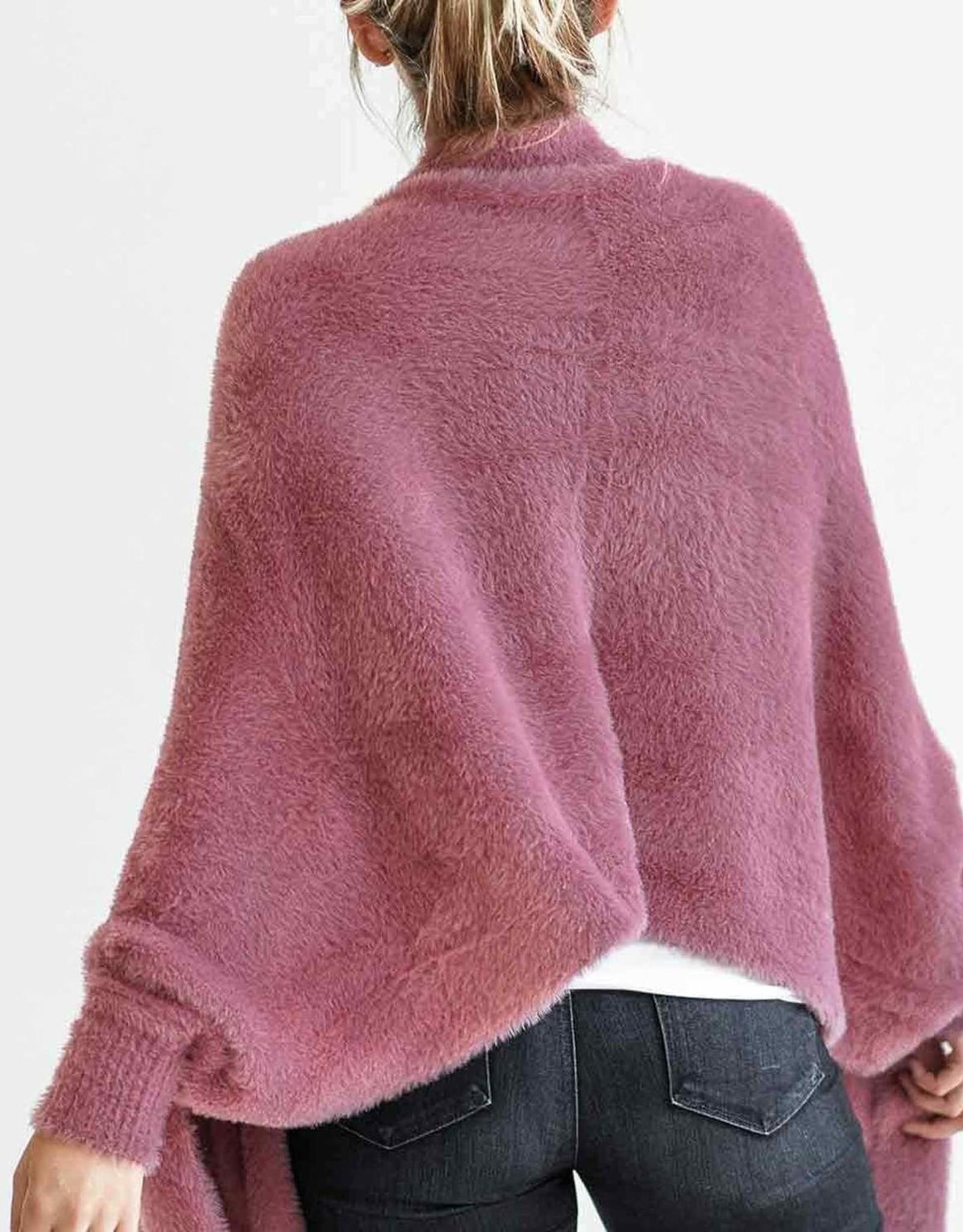 Mersea Chalet Rose Faux Fur Wrap