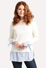 English Factory Twofer Sweater Top with Ties