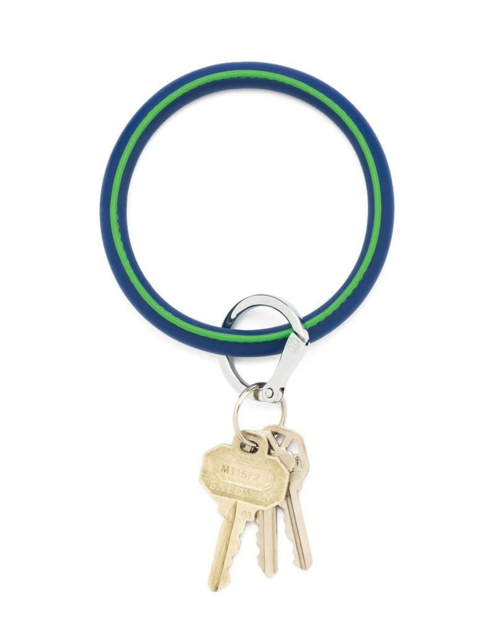 Big O Key Rings / Oventure Leather Signature Two-Tone Big O Key Rings