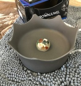 Gem Water Gem-Water CrownJuwel Pet Bowl by VitaJuwel in Slate Gray