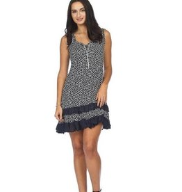 Spotted Ruffle Hem Dress