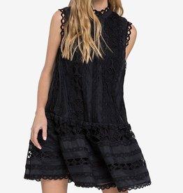 Endless Rose Drop Hem Lace Mini Dress