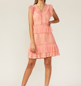 Adelyn Rae Adelyn Rae Aviana Lace Ruffle Mini Dress