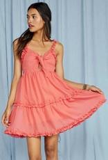 Making Waves Tie Front Mini Dress