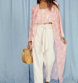 Sage the Label Desert House Long Kimono