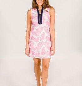 Kaeli Smith Kaeli Smith Addie Pink Palm Tunic Dress