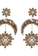 Deepa Gurnani Deepa Gurnani Cam Gold Beaded Celestial Earrings