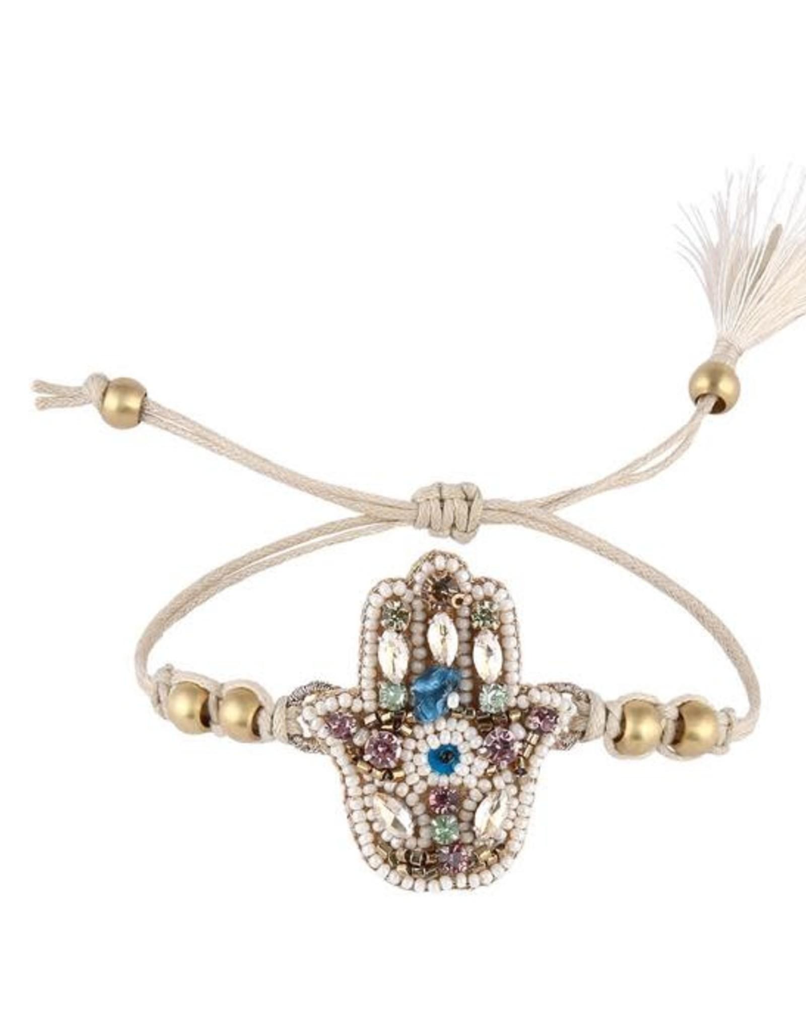 Deepa Gurnani Deepa Gurnani Fei Beaded Silk Cord Bracelet