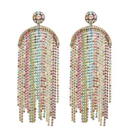Deepa Gurnani Deepa Gurnani Cadie Pastel Chainstone Chandelier Earrings