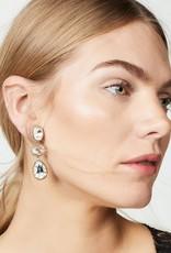 Deepa Gurnani Deepa Gurnani Hadlee Silver Crystal Drop Earrings