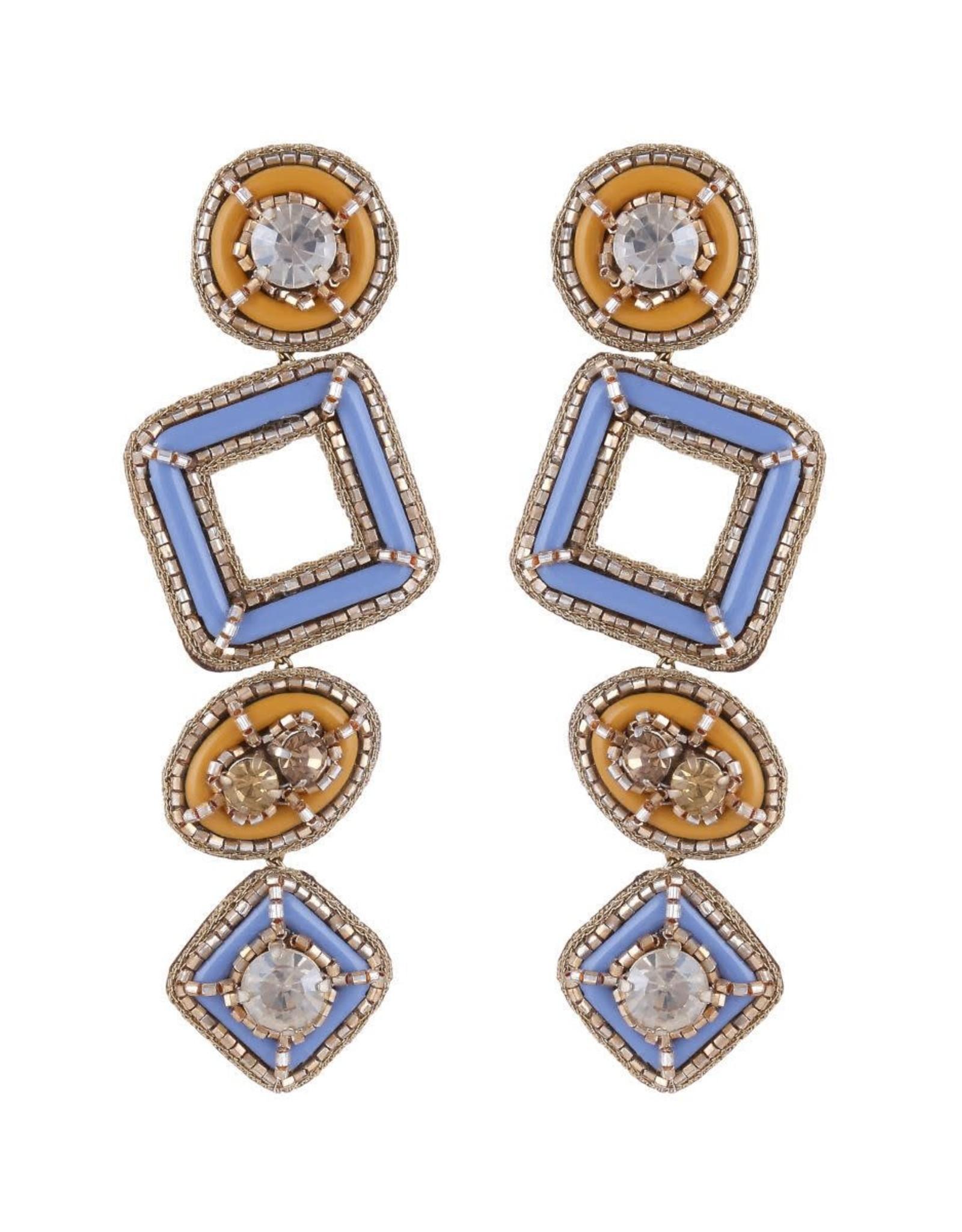 Deepa Gurnani Deepa Gurnani Pamela Geometric Resin & Crystal Drop Earrings