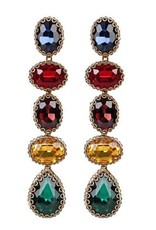 Deepa Gurnani Deepa Gurnani Tyra Multicolored Crystal Drop Earrings