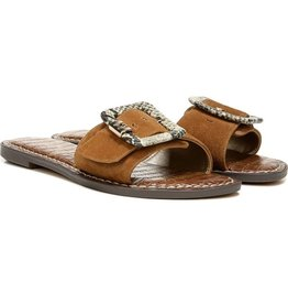 Sam Edelman Sam Edelman Granada Slide Sandal in Luggage Suede