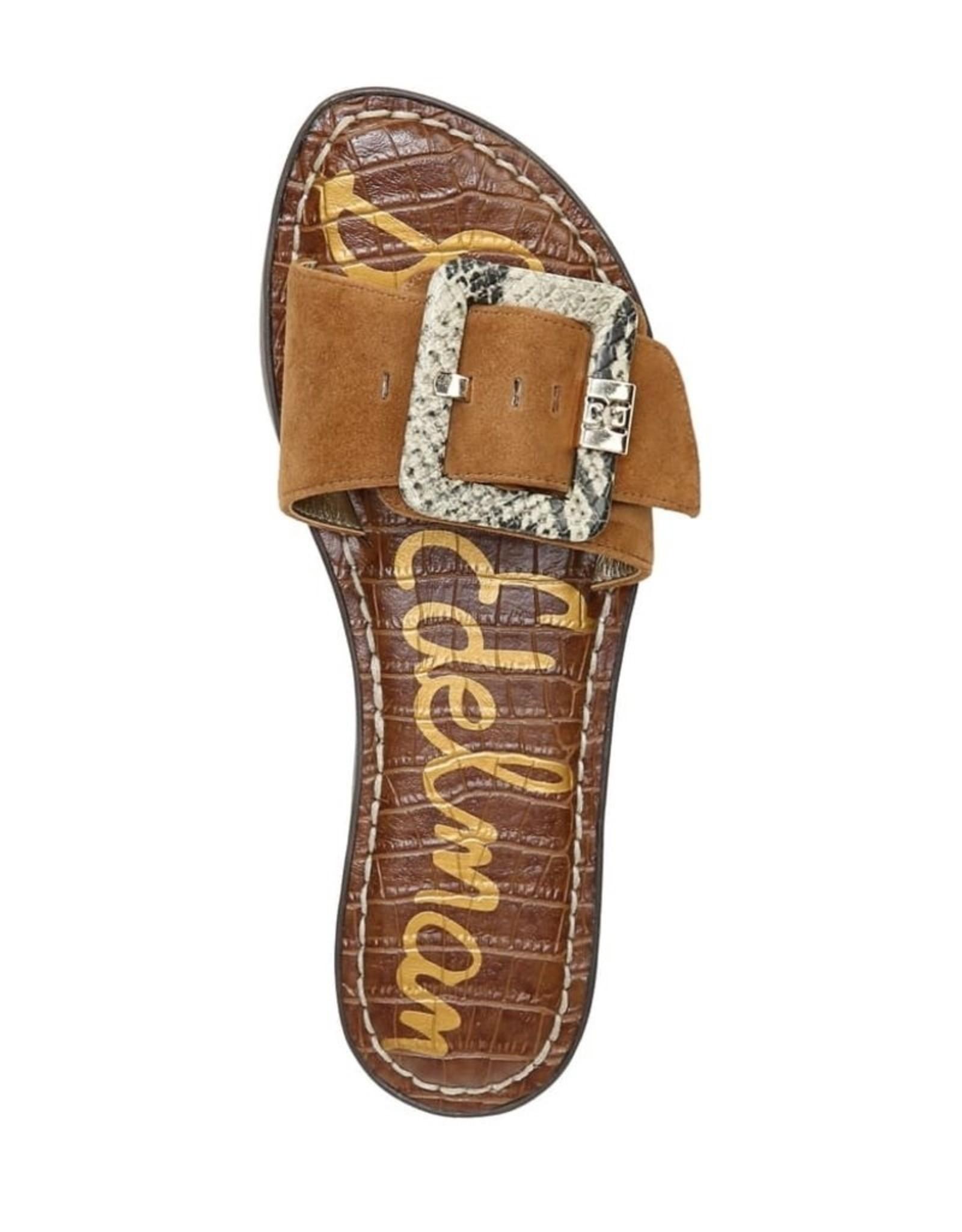 Sam Edelman Sam Edelman Granada Slide Sandal in Luggage Suede