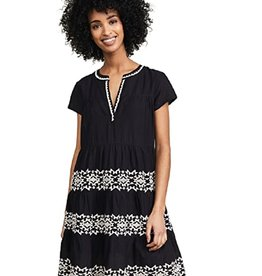 Roller Rabbit Roller Rabbit Pamela Black Embroidered Dress