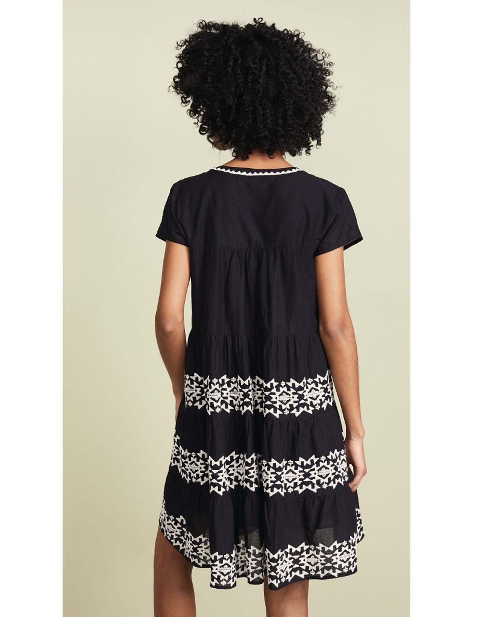 Roller Rabbit Roller Rabbit Pamela Black Embroidered Dress