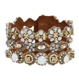 Deepa Gurnani Deepa Gurnani Finley Crystal & Brass Statement Cuff