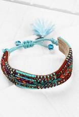 Deepa Gurnani Deepa Gurnani Kaitlin Turquoise Beaded Silk Cord Bracelet