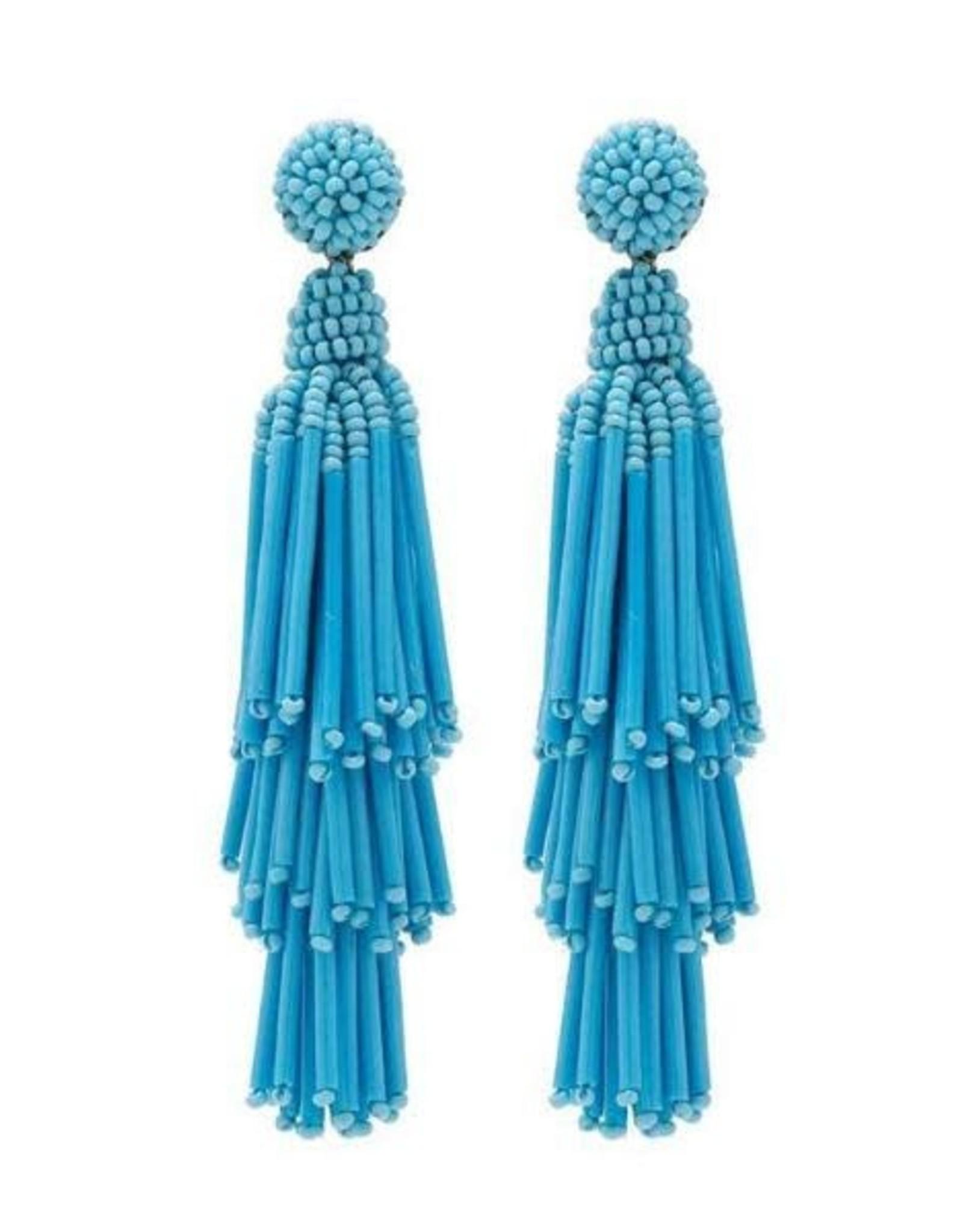 Deepa Gurnani Deepa Gurnani Rain Beaded Chandelier Earrings