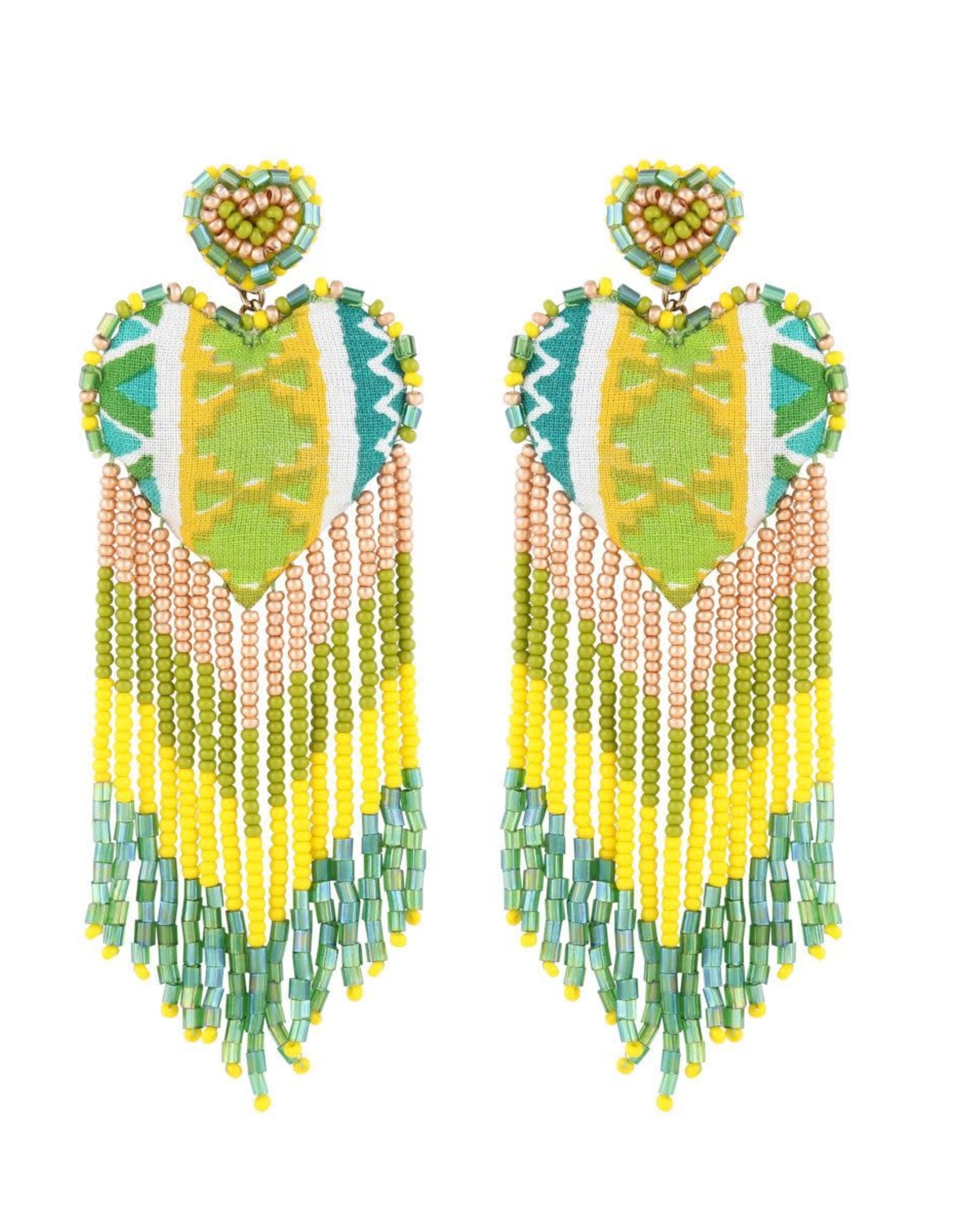Deepa Gurnani Deepa Gurnani Passion Beaded Chandelier Earrings