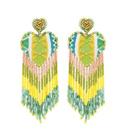 Deepa Gurnani Deepa Gurnani Passion Beaded Chandelier Earrings
