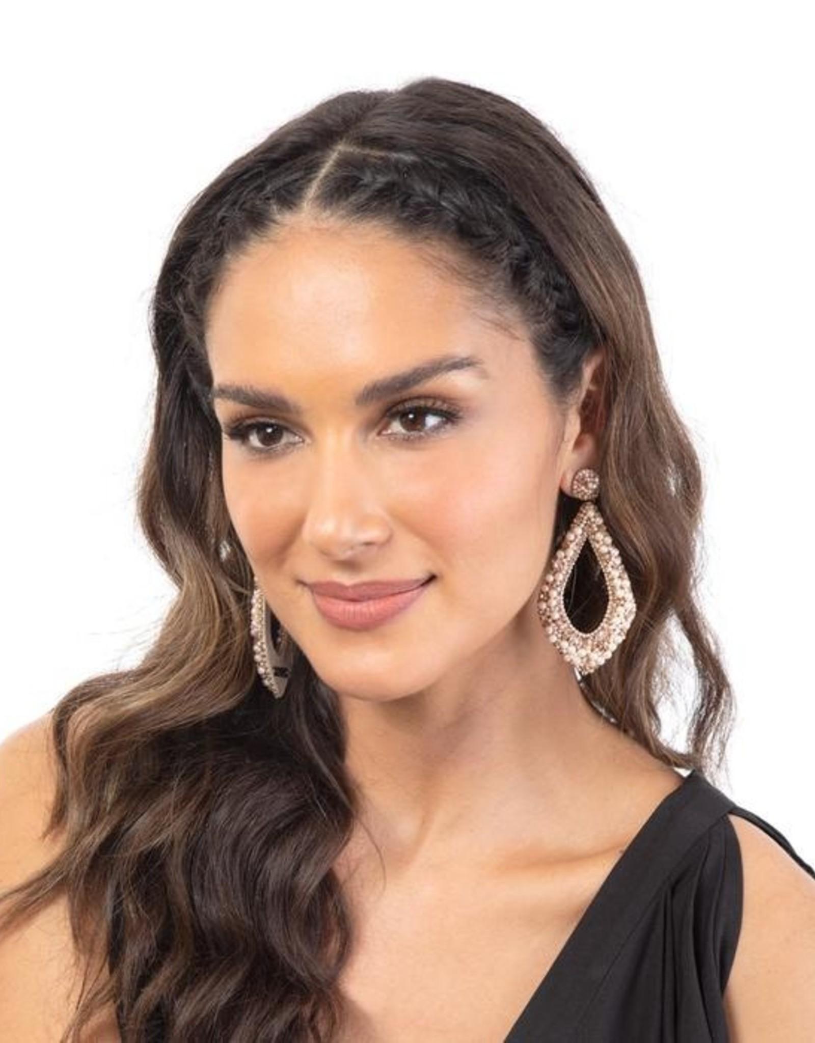 Deepa Gurnani Deepa Gurnani Laci Beaded Chandelier Earrings