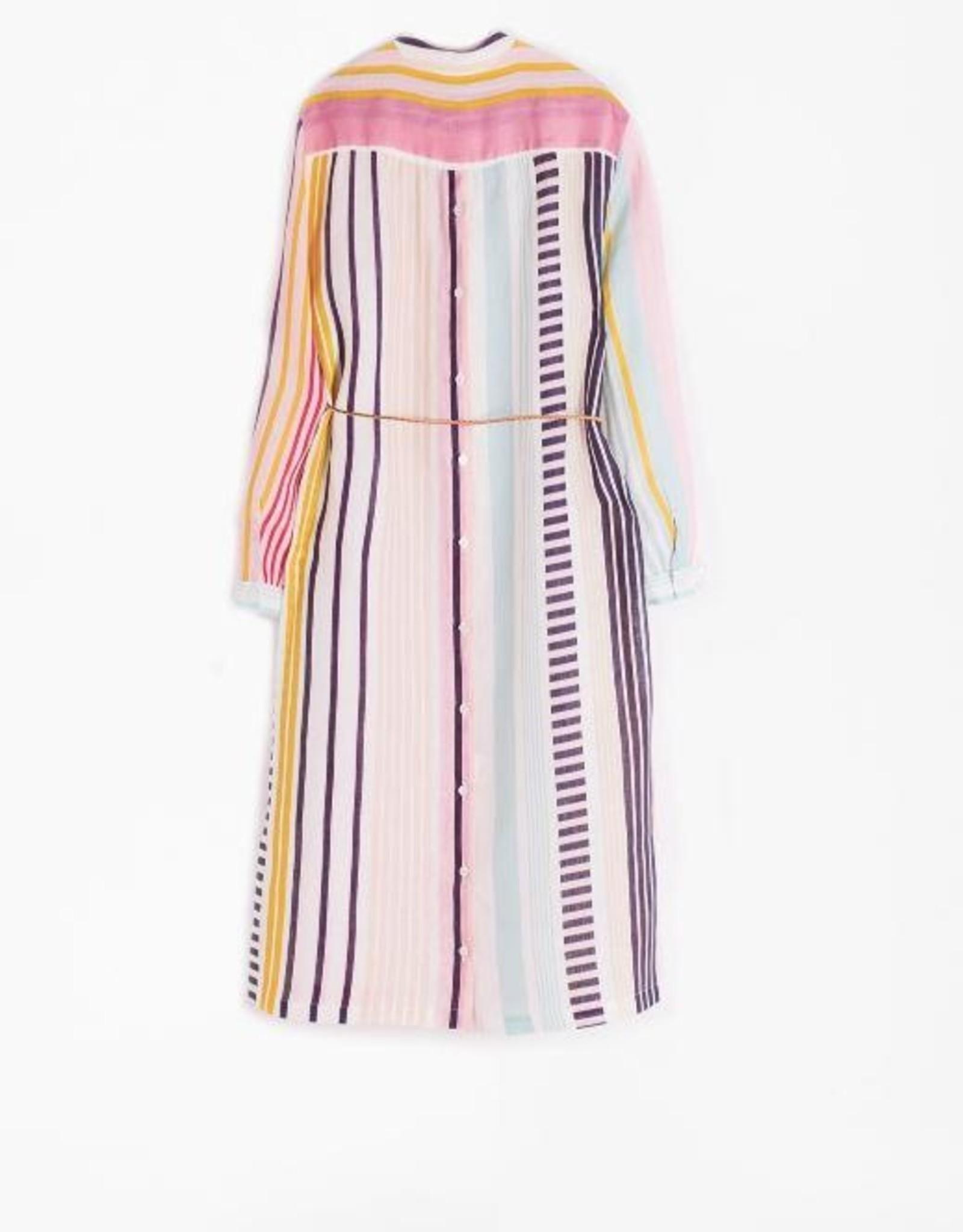 Vilagallo Vilagallo Bianca Boracay Stripe Linen Dress