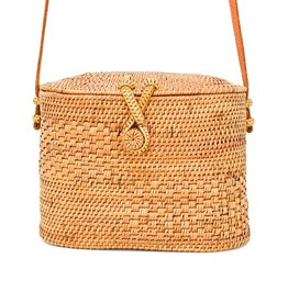 Chloe Straw Rattan Shoulder Bag