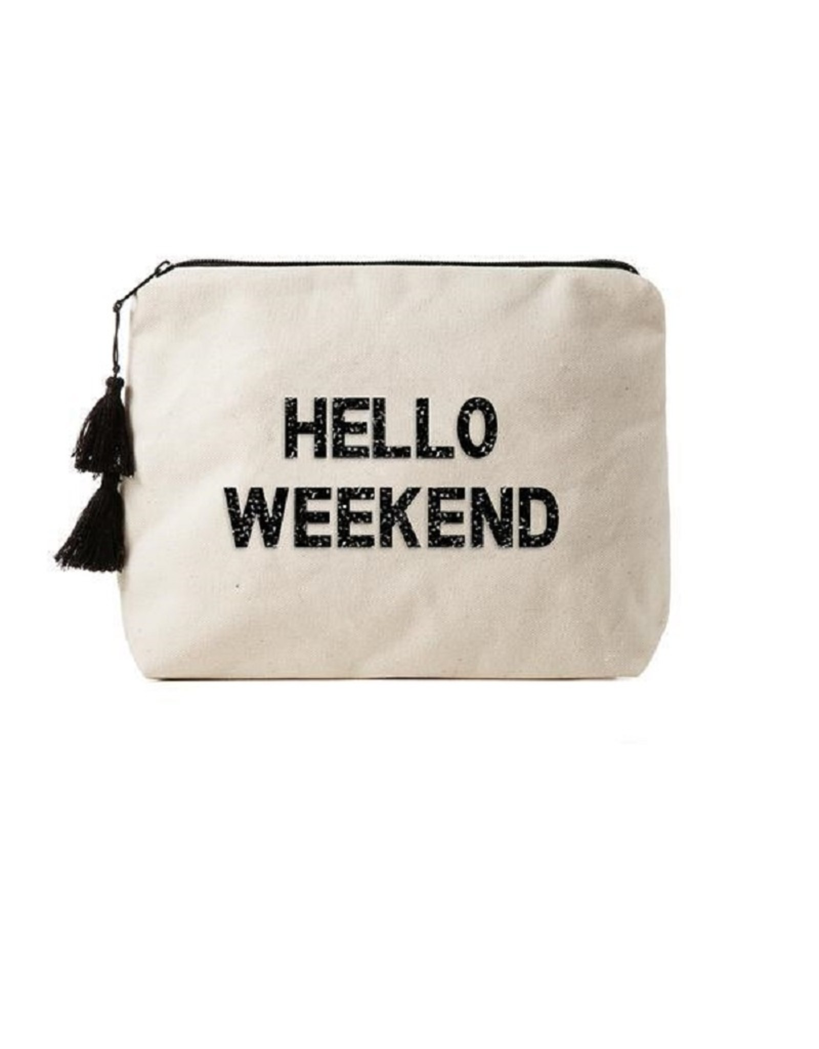 Fallon & Royce Fallon & Royce Embellished Canvas Bikini Bags