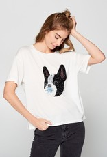French Bulldog Sequined Tee