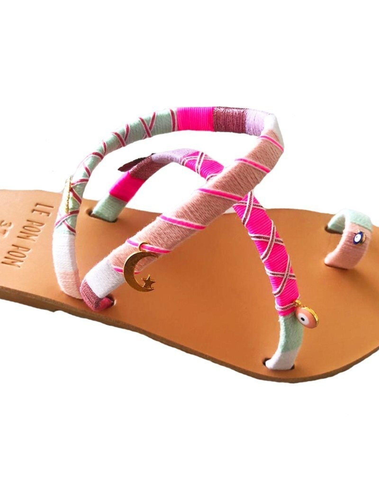 Handmade Greta Crossover Sandals with Charms