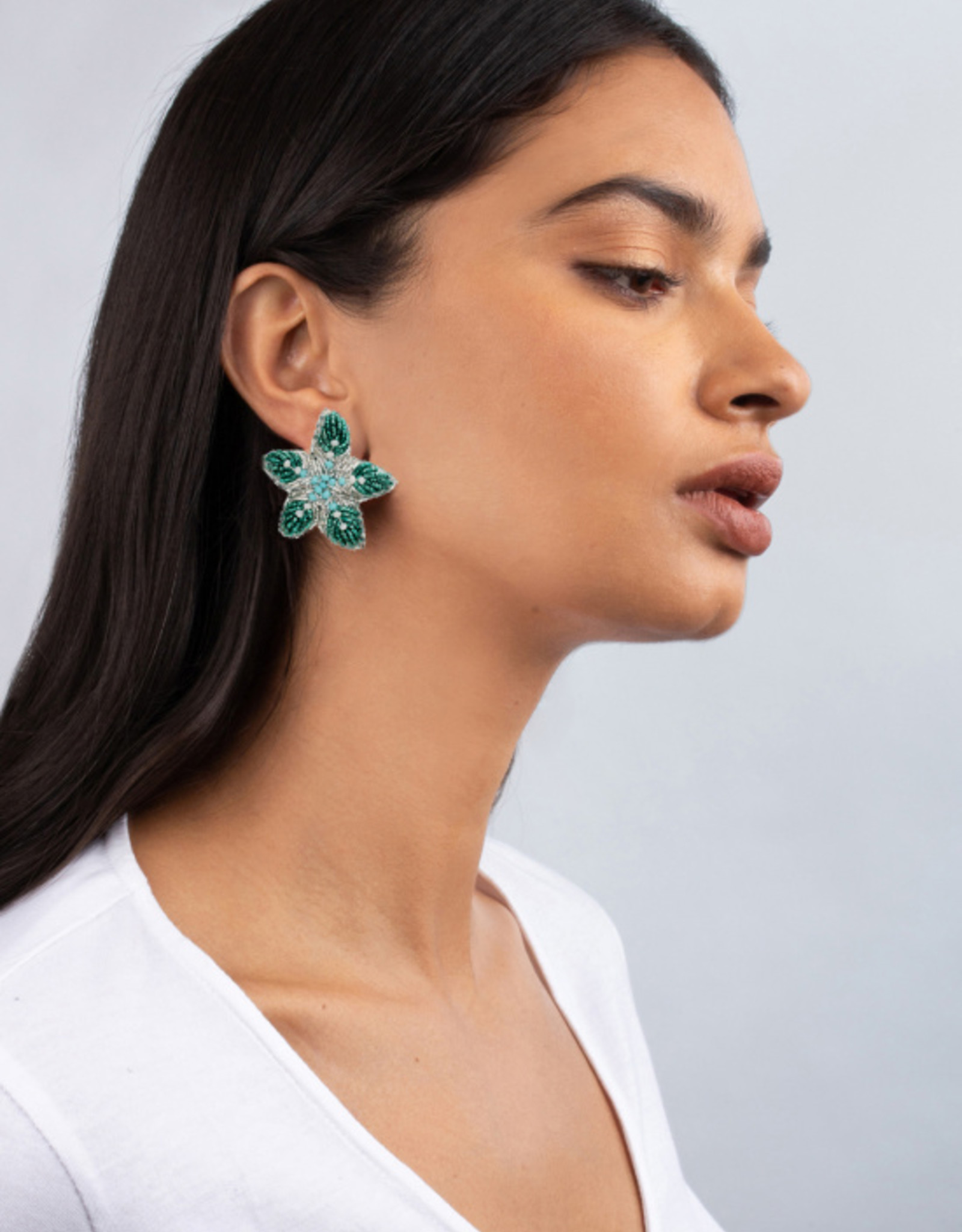 Olivia Dar Mini Beaded Starfish Earrings