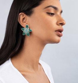 Olivia Dar Mini Beaded Starfish Earrings
