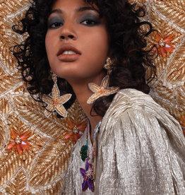 Olivia Dar Beaded Starfish Earrings