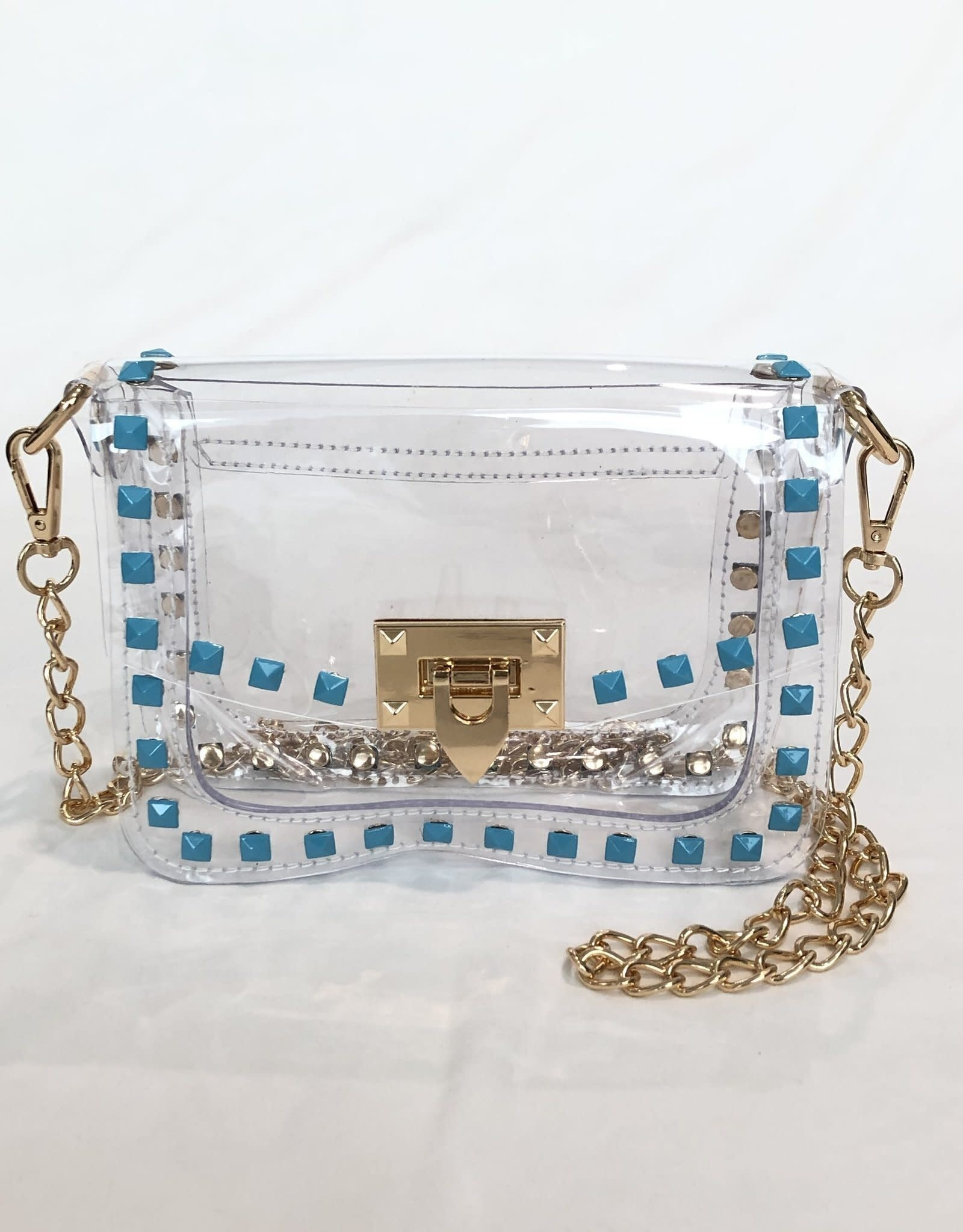 Clearly Handbags Clearly Handbags The Jackie Turquoise Stud and Gold Detailing