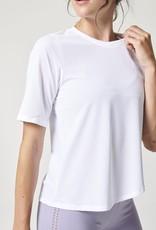 Nux NUX Activewear Coconut White Scoop Tee