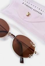 Quay Quay Final Stand Cherries Sunglasses Gold/Brown