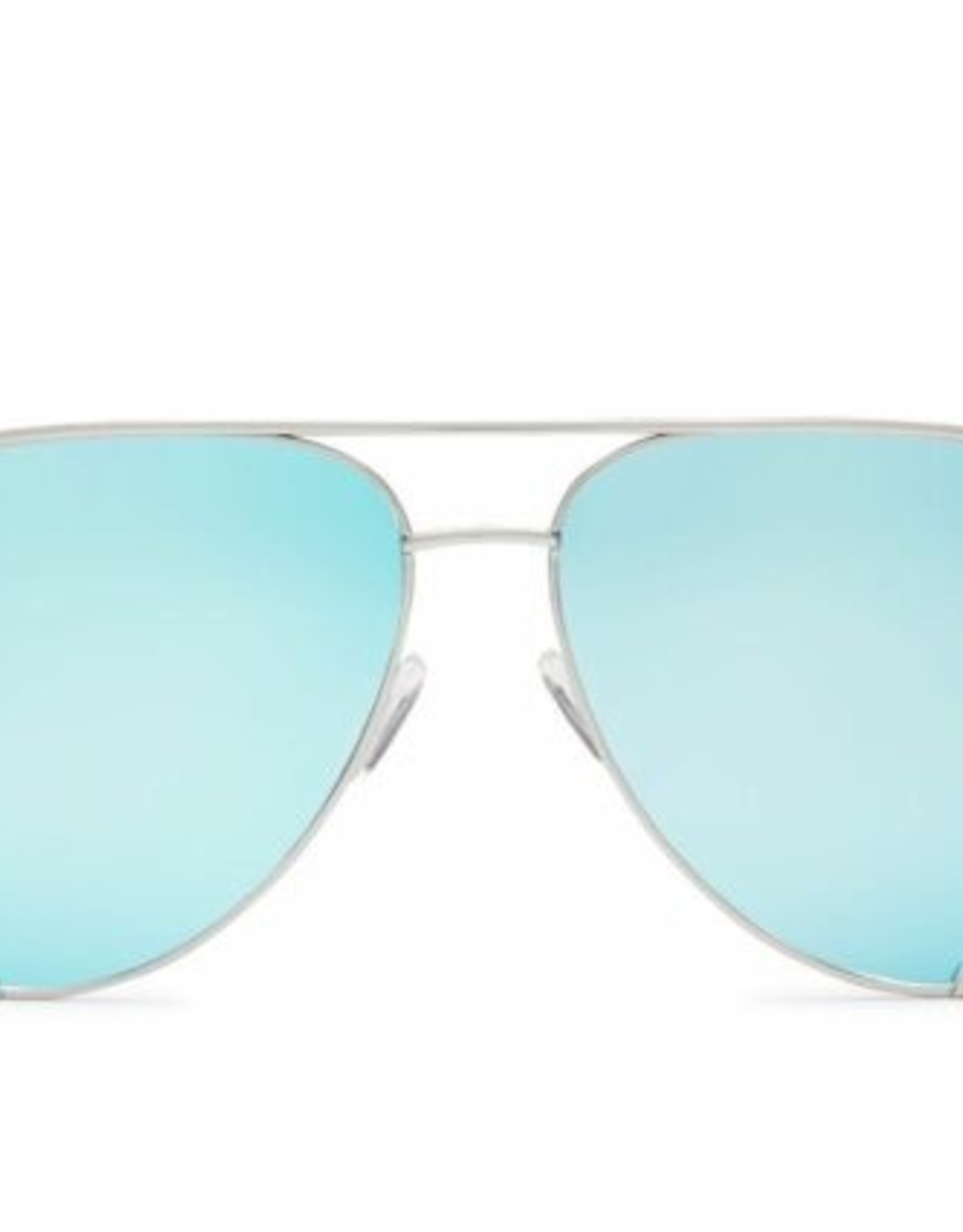 Quay Quay X Desi Perkins High Key Sunglasses Silver/Blue
