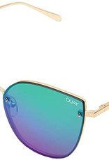 Quay Quay Lexi Sunglasses in Gold/Pink