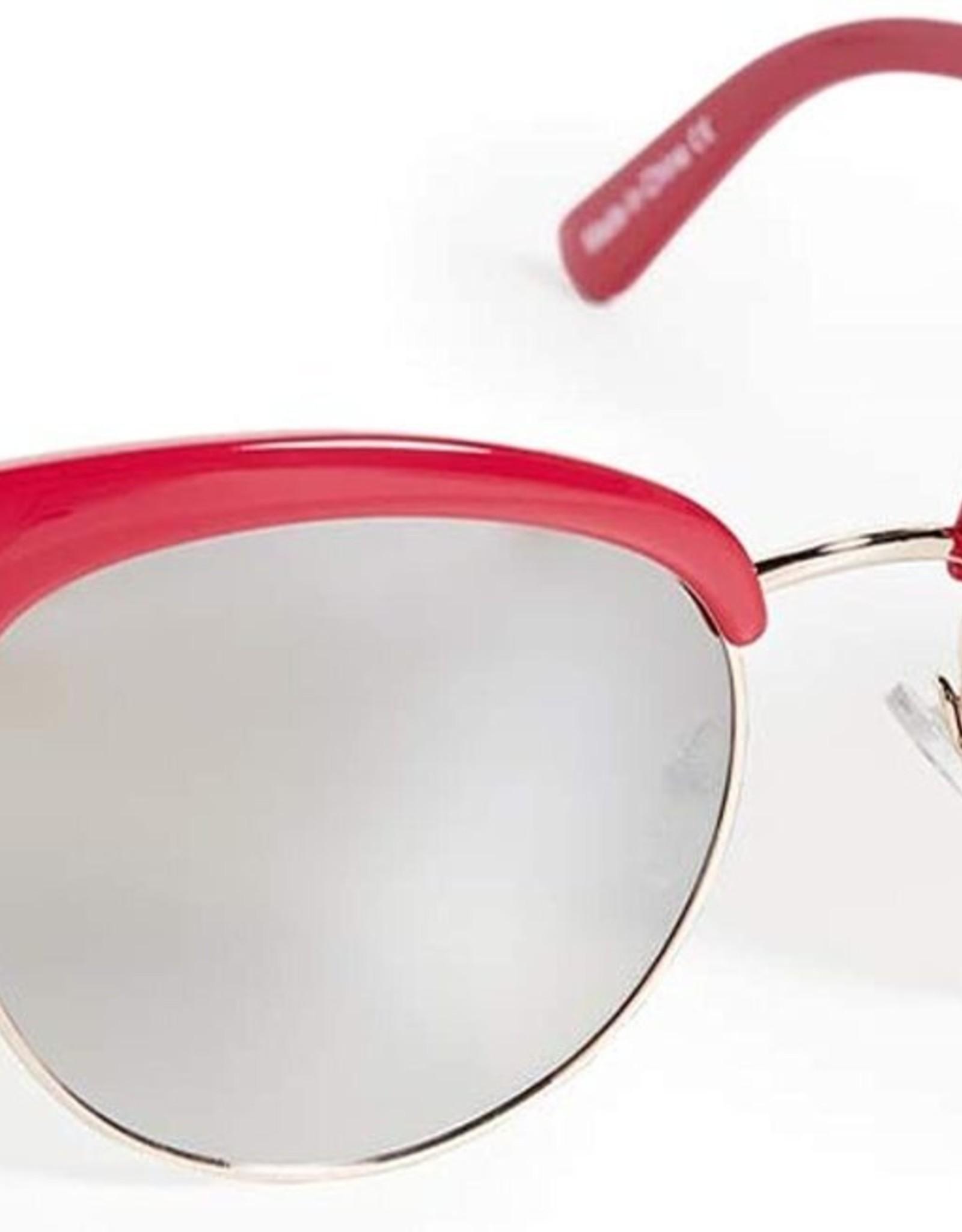 Quay Quay Cherry Sunglasses Red/Brown Flash
